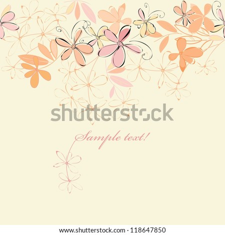 Abstract heather flower background. Banner.