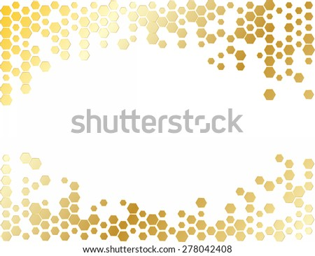 abstract hexagon - stock vector