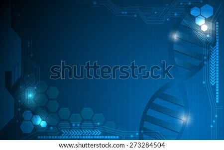abstract hexagon science and technology innovation concept background
