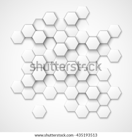 Abstract hexagonal background. Shape, geometric pattern, texture, decoration. Vector illustration