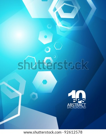 Abstract hexagons. Vector geometric futuristic hi-tech background - stock vector