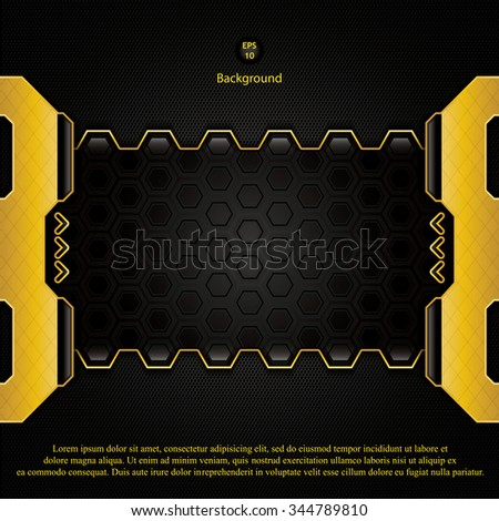 Abstract hi-tech background - vector illustration  - stock vector