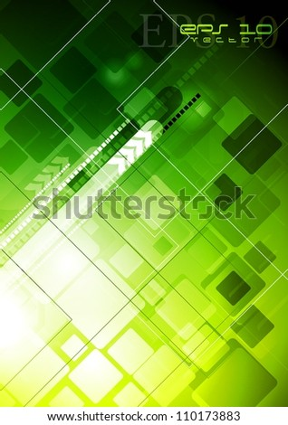 Abstract hi-tech background with arrows