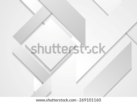 Abstract hi-tech geometric shapes background. Vector design - stock vector