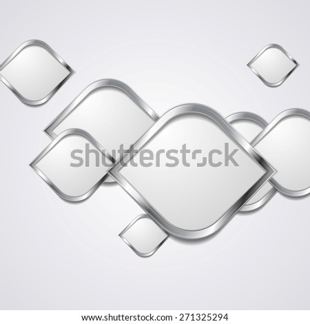 Abstract hi-tech metallic background. Vector design - stock vector