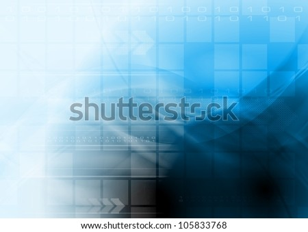 Abstract hi-tech vector background - stock vector