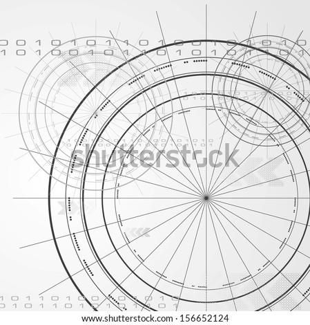 Abstract hi-tech vector background - stock vector