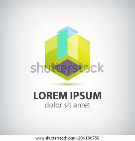 abstract hipster modern icon, logo isolated - stock vector