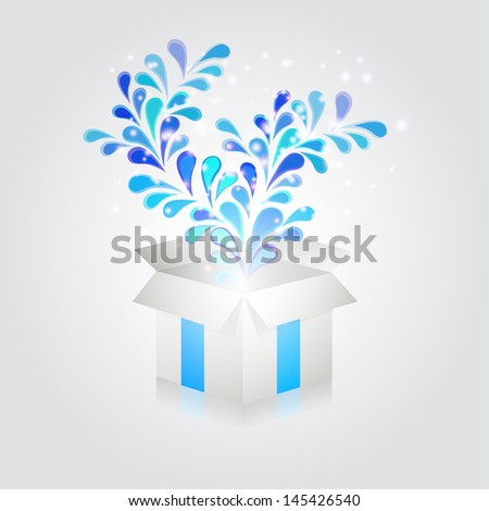 Abstract holiday box - stock vector