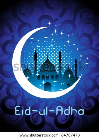abstract holy background for eid ul adha - stock vector