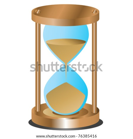 Abstract hourglass on white background