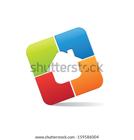 Abstract House Icon - stock vector