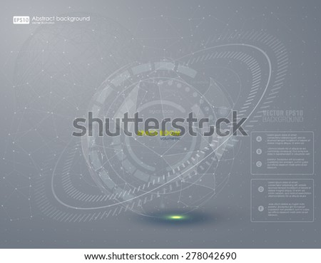 Abstract HUD grey background. Vector. - stock vector