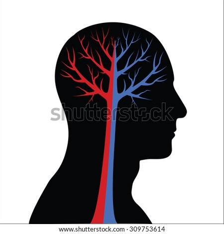 Abstract Human Brain - stock vector