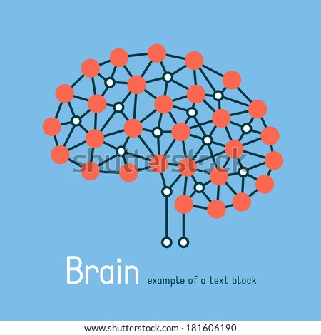 Abstract human brain. Creative brain concept background - stock vector