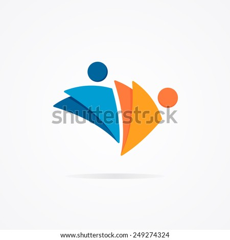 Abstract human logo - stock vector