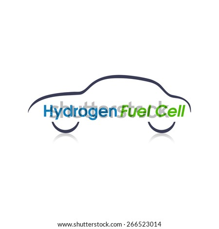 Abstract Hydrogen Fuel Cell car design. - stock vector