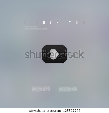 Abstract I Love You Movie Poster Stock Vector 125529929 Shutterstock