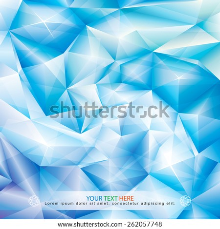 Abstract ice blue crystal spiral background. - stock vector