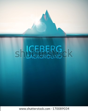 Abstract iceberg background, eps 10 - stock vector