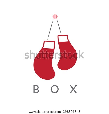 abstract icon vector design template of boxing gloves - stock vector
