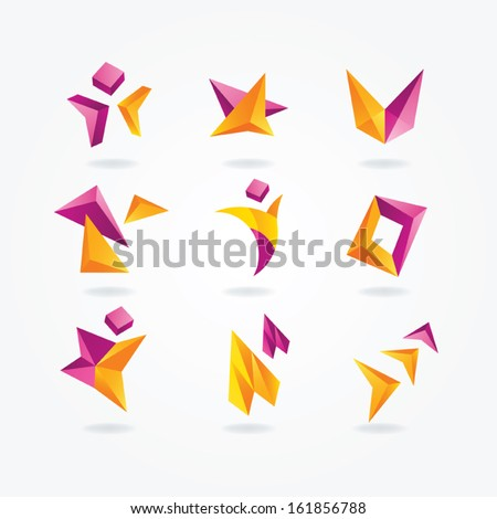 Abstract icons - stock vector