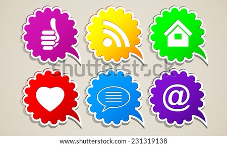 abstract icons for Internet