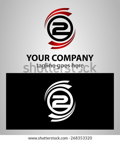 Abstract icons for number 2 logo  - stock vector
