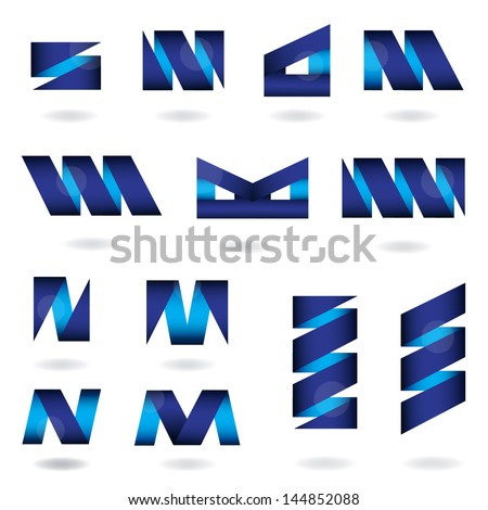 Abstract Icons Set - Isolated On White Background - Vector Illustration, Graphic Design Editable For Your Design. Abstract Logo  - stock vector