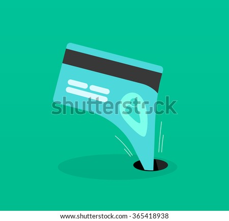 Abstract identity theft, money outflow, fraud theft protection, phishing, leakage information, economic crisis poster, financial bankruptcy flat icon modern design, vector illustration isolated - stock vector