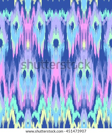 abstract ikat texture ~ seamless background