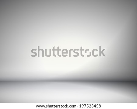 abstract illustration background texture of gray wall, flat floor in empty room. - stock vector