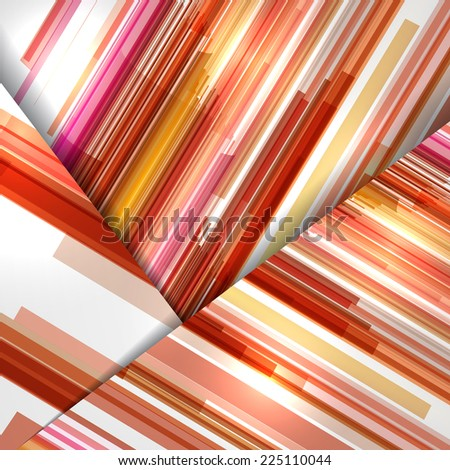 Abstract illustration, colorful digital composition. - stock vector
