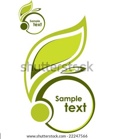 Abstract illustration, frame, trade mark, logo - stock vector