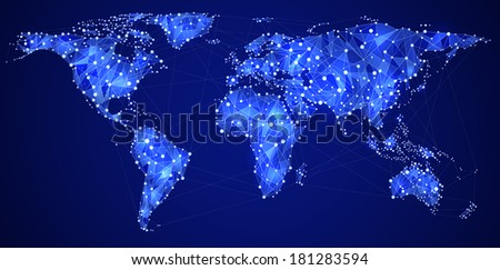 Abstract illustration of global network, EPS 10 contains transparency. - stock vector