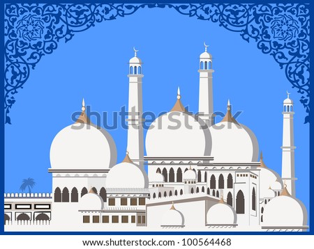 stock-vector-abstract-illustration-of-mosque-or-masjid-on-abstract ...