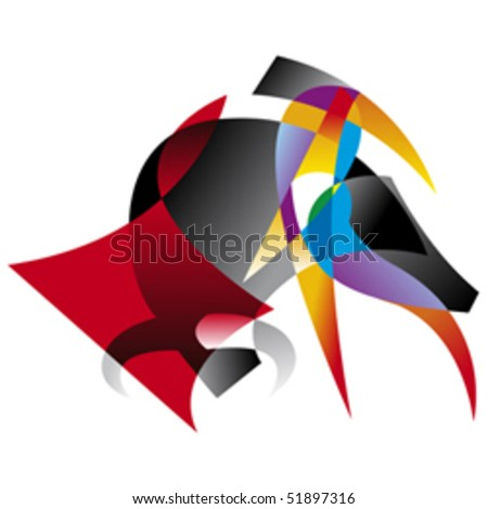 Abstract illustration of spanish bullfighter.