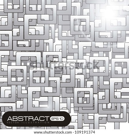 Abstract illustration of squares, isolated on white background, vector illustration
