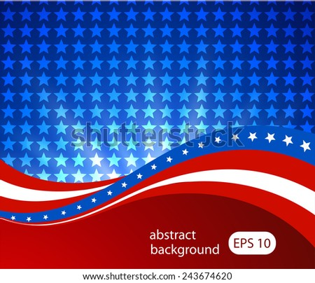 Abstract illustration of the American flag - stock vector