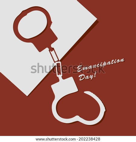 Abstract illustration to Emancipation Day! Vector drawing. - stock vector