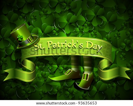 abstract illustration to the day of saint Patrick - stock vector