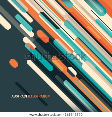 Abstract illustration. Vector illustration. - stock vector