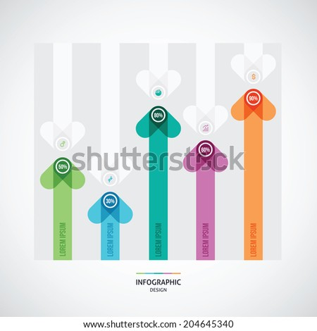 abstract illustration with arrows can be used for workflow layou - stock vector