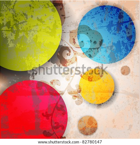 Abstract illustration with circles. - stock vector