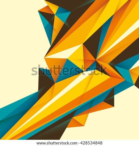 Abstract illustration with geometric paths. Vector illustration. - stock vector