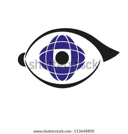 Abstract image of a human eye. Vector. EPS-10 (non transparent elements, non gradient) - stock vector