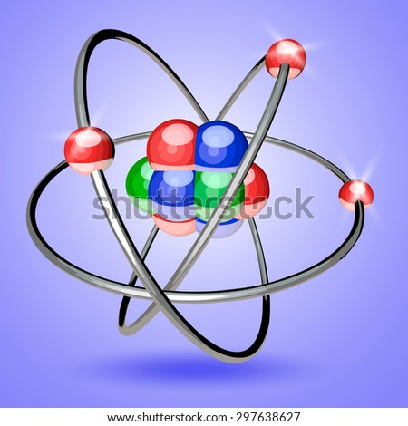 Abstract image of an atom with electrons
