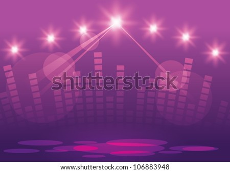 Abstract image of concert lighting - stock vector