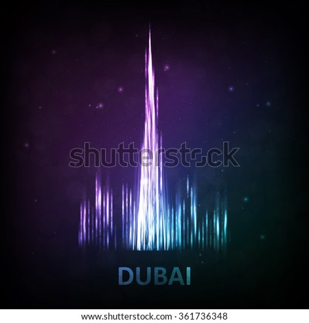 Abstract image of Dubai. The concept vector illustration eps10