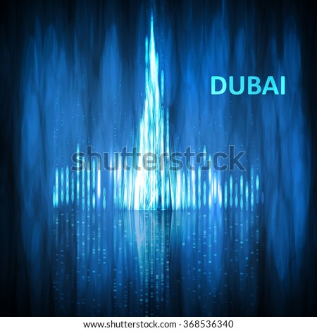 Abstract image of Dubai. The concept vector illustration eps10 - stock vector